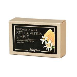 Saponetta miele e stella alpina